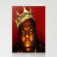 biggie smalls Stationery Cards featuring Biggie by I Love Decor