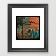 Crow train Framed Art Print