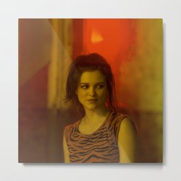Sophie Cookson - Celebrity (Photographic Art) Metal Print