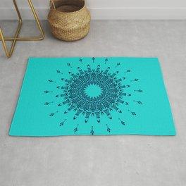 Blue Symmetry  Rug