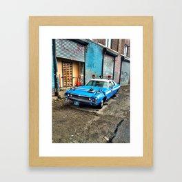 on the set Framed Art Print