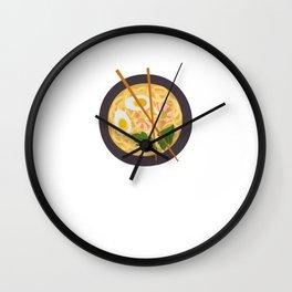 Ramen Is Life Noodles Shrimp Wall Clock