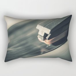 Music From a Vintage 45 RPM Record Playing on a Turntable Rectangular Pillow