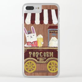 Popcorn vendor Clear iPhone Case