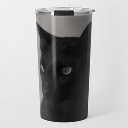 Oriental black cat Travel Mug