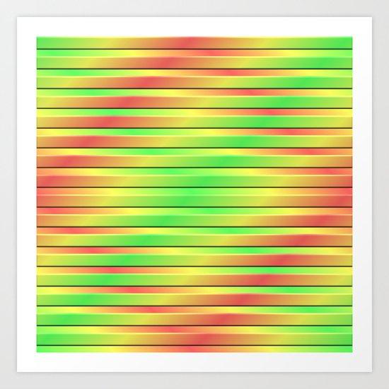 Tricolor 3D Slats Art Print