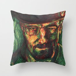 Breaking Sharpies Throw Pillow