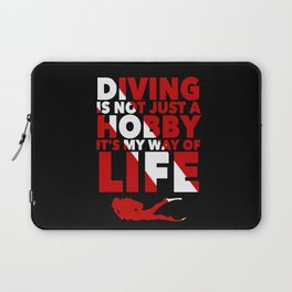 Scuba diving is my way of life Laptop Sleeve