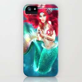 Mermaid underwater iPhone Case