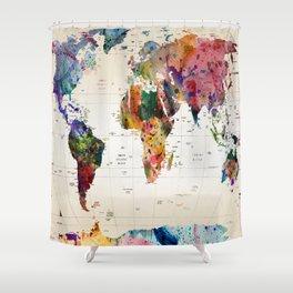 map Duschvorhang