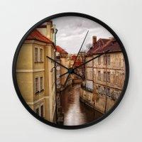 prague Wall Clocks featuring Prague by Renae