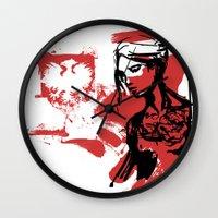 poland Wall Clocks featuring Poland by viva la revolucion