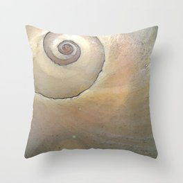 Moon Shell Cosmos Throw Pillow