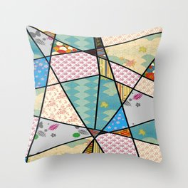 Mixed Pattern Perfect Square Throw Pillow