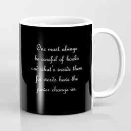 Words have the power to change us - Tessa Gray BLACK Coffee Mug