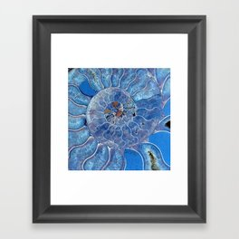 Blue seashell -mother-of-pearl - Beautiful backdrop Framed Art Print