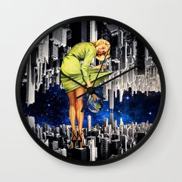 cramped in the city Wall Clock
