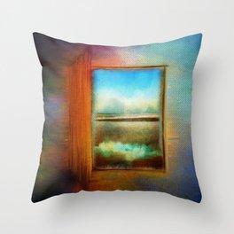 Window to Anywhere Throw Pillow