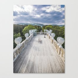 The bench Schönbrunn Palace Vienna Austria Canvas Print
