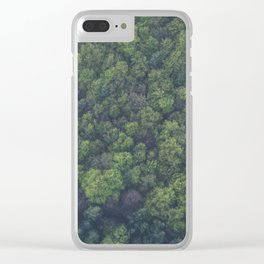green-trees Clear iPhone Case