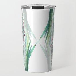Festive Gouache Watercolor Watsonia Plant Travel Mug
