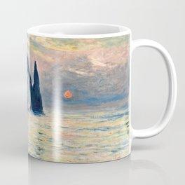 Claude Monet - The Cliff, Etretat, Sunset Coffee Mug