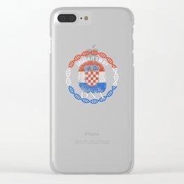 Croatia Its In My DNA Clear iPhone Case