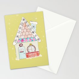 Gingerbread House Green Stationery Cards