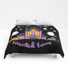 Home Sweet Haunted Home Comforters