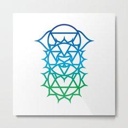 Heart, Throat & Third Eye Chakra Intersection Metal Print