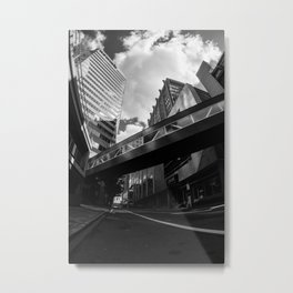 Mind the Gap Black and White Print Metal Print