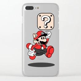 Mario Classic Cartoon Clear iPhone Case