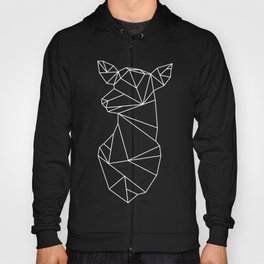 Geometric Doe (White on Black) Hoody
