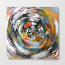 abstract ink flower x Metal Print