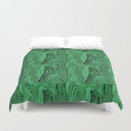 Emerald marble swirl Duvet Cover