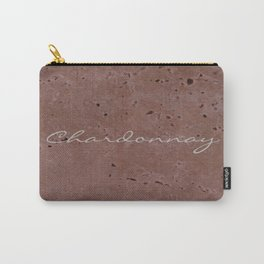 Chardonnay Wine Red Travertine - Rustic - Rustic Glam Carry-All Pouch