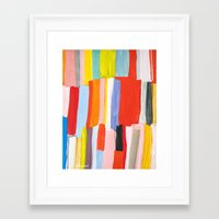 library Framed Art Prints featuring Library by Emily Rickard