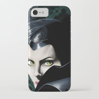 maleficent iPhone & iPod Cases featuring Maleficent by Tish