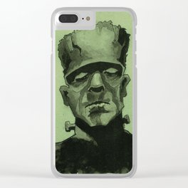 Frankentein's Monster Clear iPhone Case