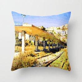 Catanzaro: railway station Throw Pillow
