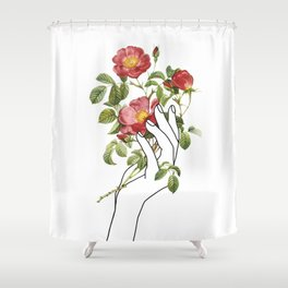 Flower in the Hand II Shower Curtain