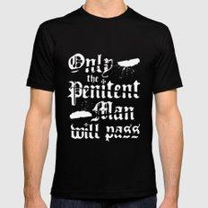 Penitent Man MEDIUM Black Mens Fitted Tee
