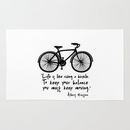 Life is like riding a bicycle... Rug