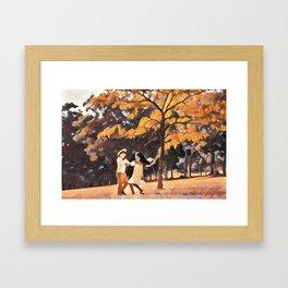 Happy Siblings Framed Art Print
