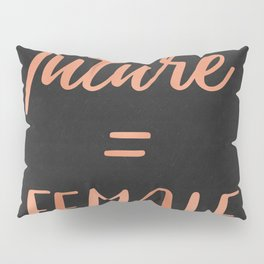 The Future is Female Pink Rose Gold on Black Pillow Sham