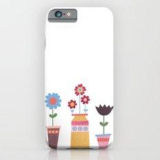 Floral Pots Slim Case iPhone 6s