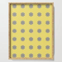 Embroidered Flower Pattern 3 Serving Tray