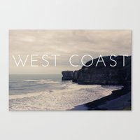 west coast Canvas Prints featuring West Coast by CaraGriffith