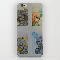 dc comics iPhone & iPod Skins featuring DC: Batgirls by aka-noodle