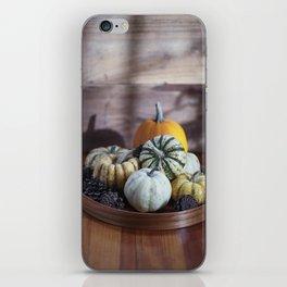 Fall Pumpkin Still Life iPhone Skin